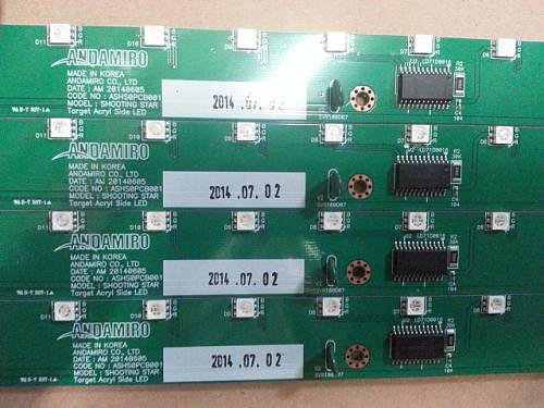 TARGET SIDE LED PCB ASS'Y / PART SUB NAME / PART CODE