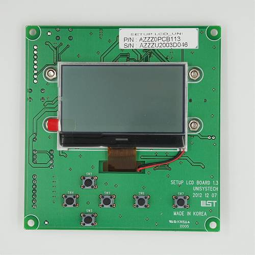 SETUP LCD PCB ASS'Y / PART SUB NAME / PART CODE